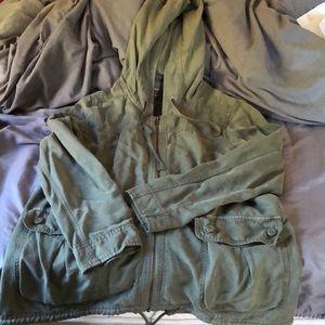 American Eagle olive green utility jacket